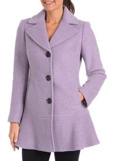 Kensie Signature Wool Peplum Pea Coat