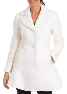 Kensie Signature Wool Peplum Pea Coat