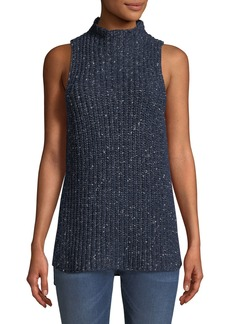 Kensie Sleeveless Mock-Neck Sweater