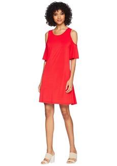 Kensie Slinky Knit Cold Shoulder Dress KS5K8197