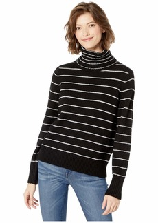 Kensie Soft Fuzzy Knit Striped Sweater KSDK5957