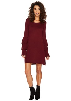 Kensie Soft Sweater Dress with Ruffle Sleeve KSNK8151