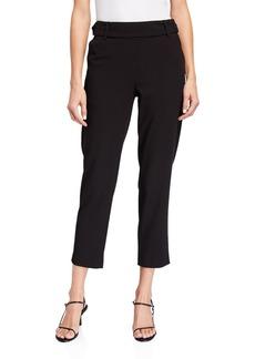 Kensie Stretch Crepe Cropped Pants