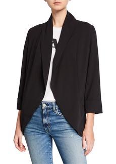 Kensie Stretch Crepe Open Jacket