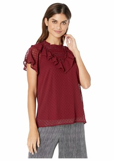 Kensie Swiss Dot Cap Sleeve Top KS9K4826
