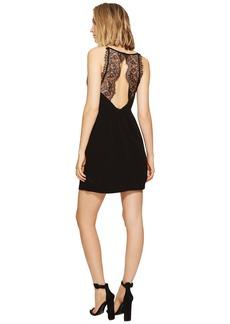 Kensie Texture Crepe Dress with Lace Back KS6K7993