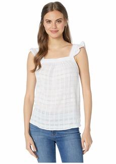 Kensie Textured Cotton Stripe Sleeveless Top KS6K4816