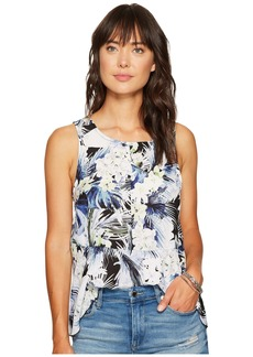 Kensie Tropical Blues Top KS6U4017