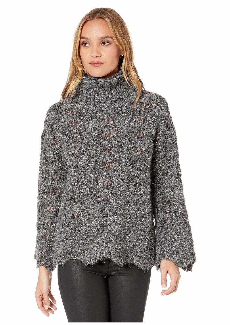 Kensie Twisted Fuzzy Yarn Sweater KSDK5956