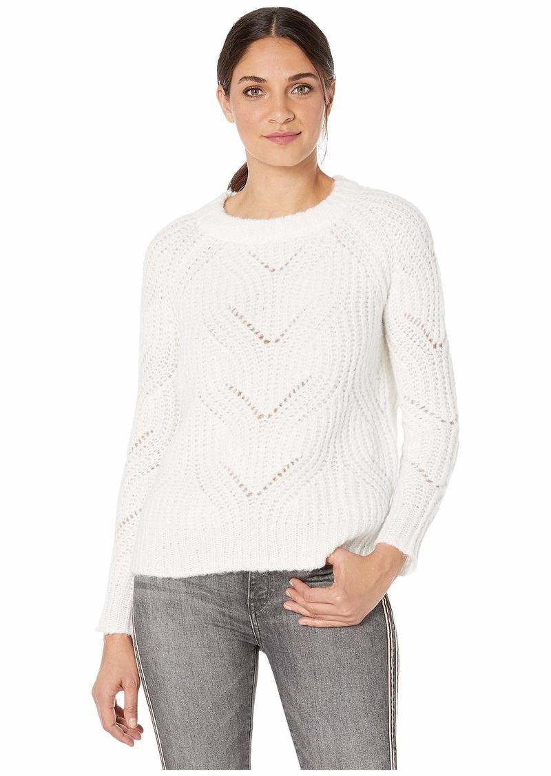 Kensie Twisted Fuzzy Yarn Sweater KSNK5964