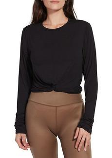 Kensie Twisted Loop Front Long-Sleeve T-Shirt