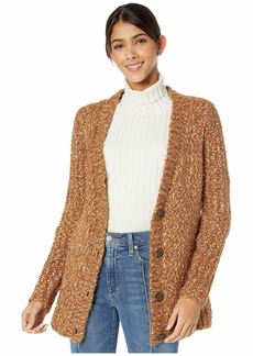 Kensie Twisted Slub Boucle Button Front Cardigan KSNK5946