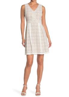 Kensie V-Neck Lace Mini Dress