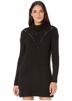 Kensie Variegated Cotton Blend Sweater Dress KSNK8415