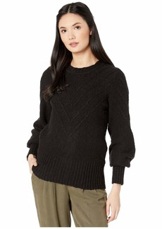 Kensie Varigated Cotton Blend Crew Neck Sweater KS0K5940