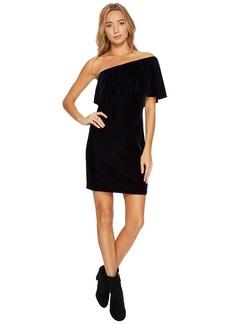 Kensie Velvet One Shoulder Dress KSNK8266