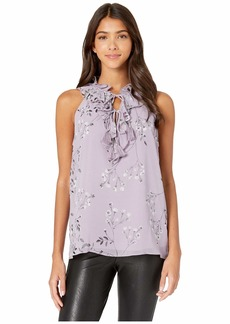 Kensie Violet Blooms Sleeveless Top KS7K4842