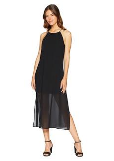 Kensie Viscose Jersey Dress with Chiffon Overlay KS6K8225