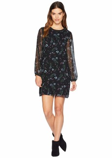 Kensie Winter Night Floral Dress KSNK8390