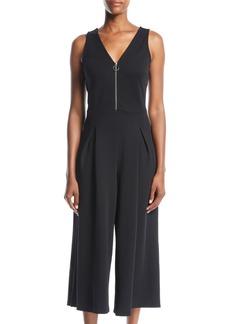 Kensie Zip-Front Cropped Jumpsuit