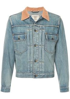Kent & Curwen contrast collar denim jacket