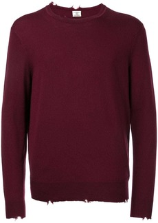 Kent & Curwen distressed fine knit jumper