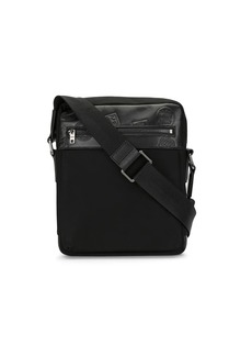 Kent & Curwen embossed calf leather messenger bag
