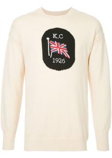 Kent & Curwen flag intarsia jumper