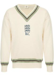 Kent & Curwen v-neck logo sweater