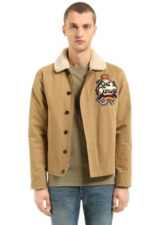 Kent & Curwen Wick Cotton Jacket W/ Faux Shearling