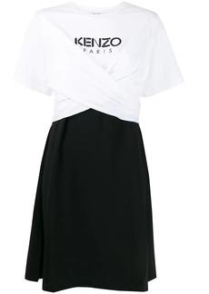 Kenzo gathered front logo dress