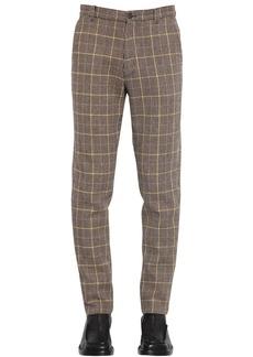 Kenzo 18cm Wool Houndstooth Check Pants