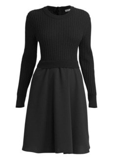 Kenzo 2-In-1 Mixed-Knit Dress