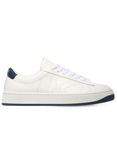 Kenzo 20mm Logo Embroidered Leather Sneakers