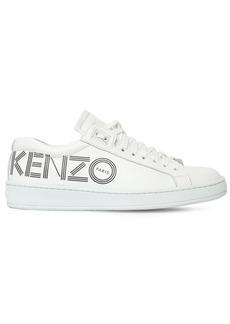 Kenzo 20mm Tennix Logo Leather Sneakers