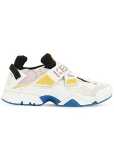 Kenzo 30mm New Sonic Leather & Suede Sneakers