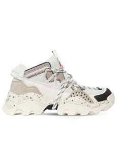 Kenzo 40mm Inka Faux Leather & Mesh Sneakers