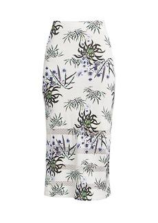 Kenzo Abstract Print Mesh Bodycon Skirt