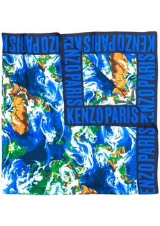 Kenzo abstract print square scarf