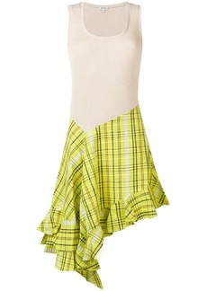 Kenzo asymmetric checked dress