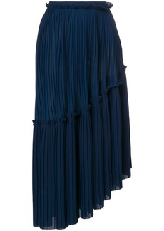 Kenzo asymmetric pleated skirt