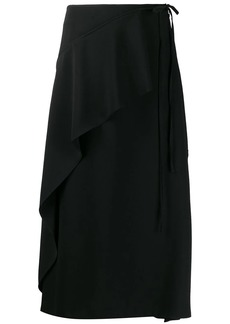 Kenzo asymmetric ruffle midi skirt