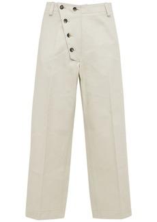 Kenzo Asymmetrical Cotton Loose Pants