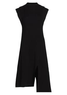 Kenzo Asymmetrical Knit Midi Dress
