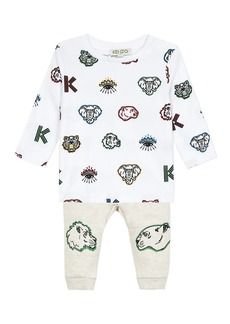 Kenzo Baby's & Little Boy's 2-Piece Logo Shirt & Joggers Set