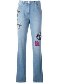 Kenzo badge appliquéd boyfriend jeans