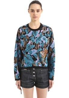Kenzo Bamboo Tiger Jacquard Knit Sweater