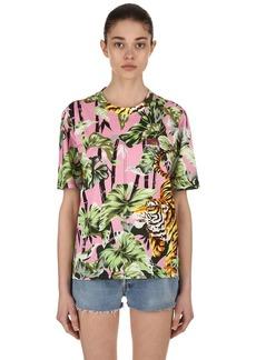 Kenzo Bamboo Tiger Printed Cotton T-shirt