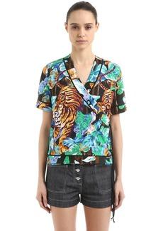 Kenzo Bamboo Tiger Printed Kimono Top