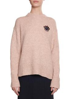 Kenzo Beaded Eye Mohair Pullover Sweater